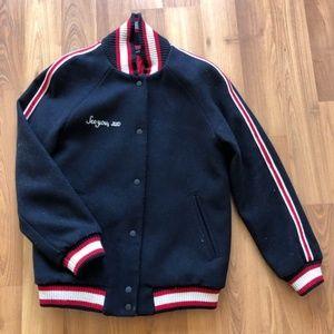 Zara East Village NY Wool Bomber Military Jacket